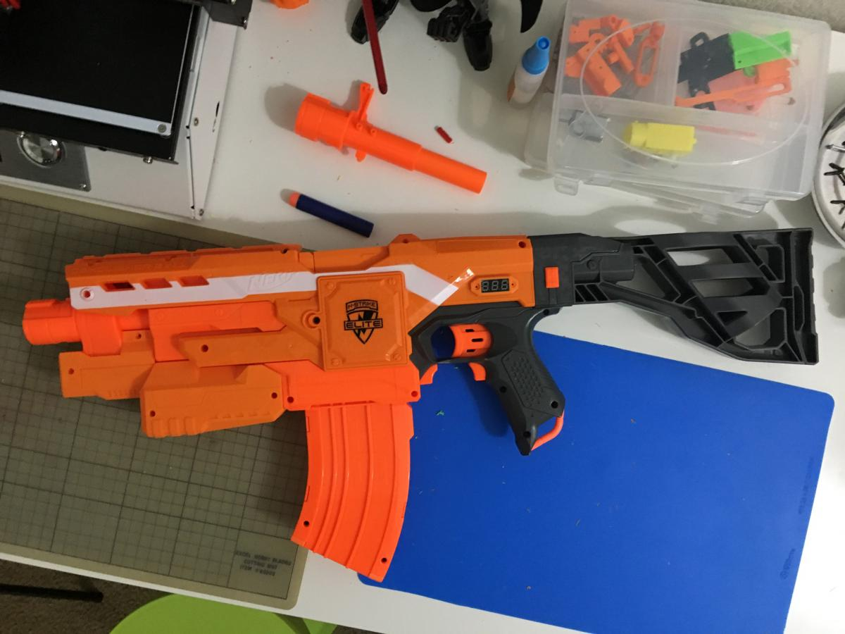 To install the Fusion Engine, the guts of the Nerf Stampede are essentially  removed and only the outer shell is used. The Stampede has a safe/full auto  ...